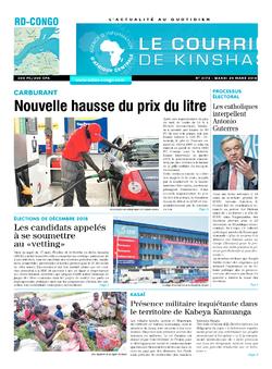 Les Dépêches de Brazzaville : Édition le courrier de kinshasa du 20 mars 2018