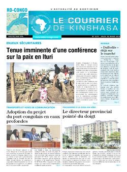 Les Dépêches de Brazzaville : Édition le courrier de kinshasa du 22 mars 2018