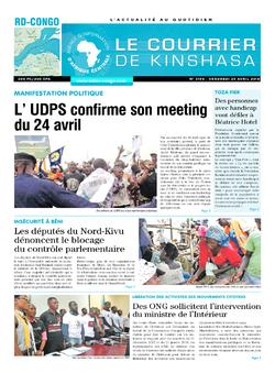 Les Dépêches de Brazzaville : Édition le courrier de kinshasa du 20 avril 2018