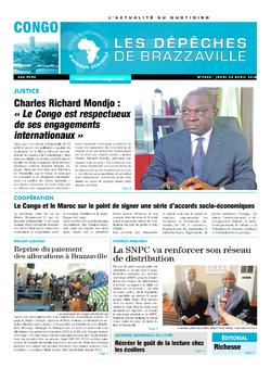 Les Dépêches de Brazzaville : Édition brazzaville du 26 avril 2018