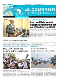 Les Dépêches de Brazzaville : Édition le courrier de kinshasa du 27 avril 2018