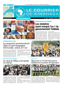 Les Dépêches de Brazzaville : Édition le courrier de kinshasa du 18 mai 2018