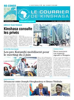 Les Dépêches de Brazzaville : Édition le courrier de kinshasa du 23 mai 2018