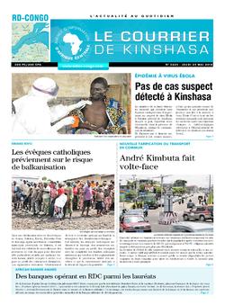 Les Dépêches de Brazzaville : Édition le courrier de kinshasa du 24 mai 2018