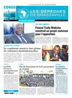 Les Dépêches de Brazzaville : Édition brazzaville du 25 mai 2018