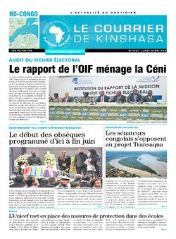 Les Dépêches de Brazzaville : Édition le courrier de kinshasa du 28 mai 2018