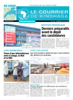 Les Dépêches de Brazzaville : Édition le courrier de kinshasa du 15 juin 2018