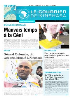 Les Dépêches de Brazzaville : Édition le courrier de kinshasa du 21 juin 2018