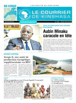 Les Dépêches de Brazzaville : Édition le courrier de kinshasa du 25 juin 2018