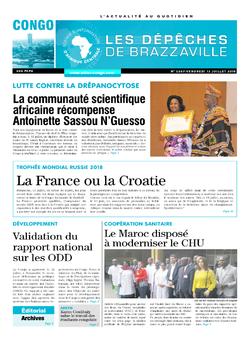 Les Dépêches de Brazzaville : Édition brazzaville du 13 juillet 2018