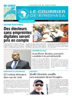 Les Dépêches de Brazzaville : Édition le courrier de kinshasa du 13 juillet 2018