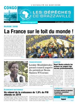 Les Dépêches de Brazzaville : Édition brazzaville du 16 juillet 2018