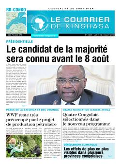 Les Dépêches de Brazzaville : Édition le courrier de kinshasa du 16 juillet 2018