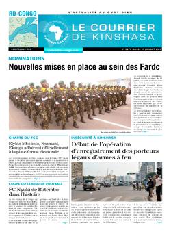 Les Dépêches de Brazzaville : Édition le courrier de kinshasa du 17 juillet 2018
