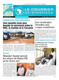 Les Dépêches de Brazzaville : Édition le courrier de kinshasa du 19 juillet 2018