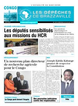 Les Dépêches de Brazzaville : Édition brazzaville du 20 juillet 2018