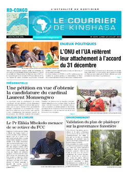 Les Dépêches de Brazzaville : Édition le courrier de kinshasa du 23 juillet 2018