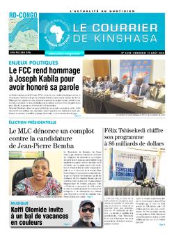 Les Dépêches de Brazzaville : Édition le courrier de kinshasa du 17 août 2018