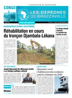 Les Dépêches de Brazzaville : Édition brazzaville du 24 septembre 2018