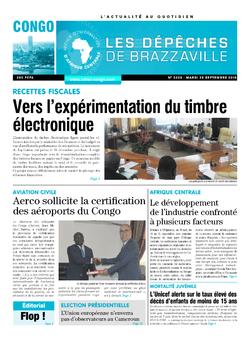 Les Dépêches de Brazzaville : Édition brazzaville du 25 septembre 2018