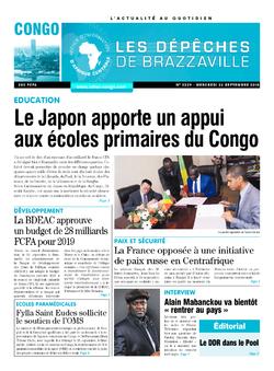Les Dépêches de Brazzaville : Édition brazzaville du 26 septembre 2018