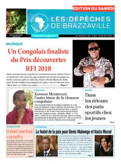 Les Dépêches de Brazzaville : Édition du 6e jour du 06 octobre 2018