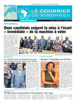 Les Dépêches de Brazzaville : Édition le courrier de kinshasa du 19 octobre 2018
