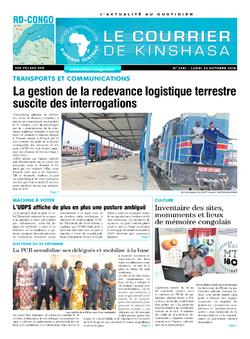 Les Dépêches de Brazzaville : Édition le courrier de kinshasa du 22 octobre 2018