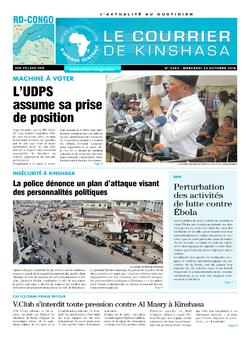 Les Dépêches de Brazzaville : Édition le courrier de kinshasa du 24 octobre 2018