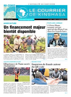 Les Dépêches de Brazzaville : Édition le courrier de kinshasa du 12 novembre 2018