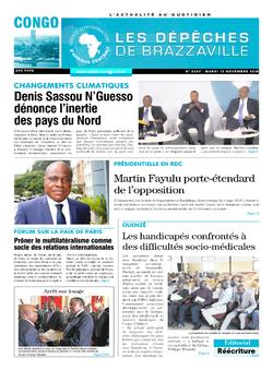 Les Dépêches de Brazzaville : Édition brazzaville du 13 novembre 2018