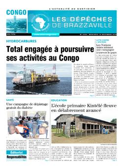 Les Dépêches de Brazzaville : Édition brazzaville du 14 novembre 2018