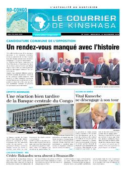 Les Dépêches de Brazzaville : Édition le courrier de kinshasa du 14 novembre 2018