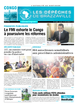 Les Dépêches de Brazzaville : Édition brazzaville du 15 novembre 2018