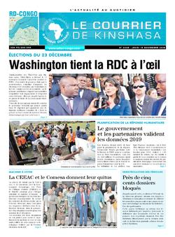 Les Dépêches de Brazzaville : Édition le courrier de kinshasa du 15 novembre 2018