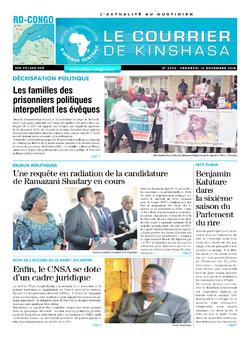 Les Dépêches de Brazzaville : Édition le courrier de kinshasa du 16 novembre 2018