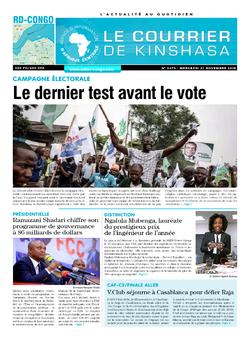 Les Dépêches de Brazzaville : Édition le courrier de kinshasa du 21 novembre 2018