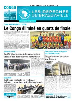 Les Dépêches de Brazzaville : Édition brazzaville du 10 décembre 2018