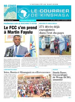 Les Dépêches de Brazzaville : Édition le courrier de kinshasa du 10 décembre 2018