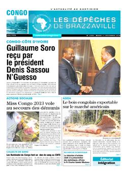 Les Dépêches de Brazzaville : Édition brazzaville du 11 décembre 2018