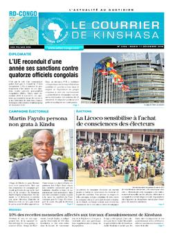 Les Dépêches de Brazzaville : Édition le courrier de kinshasa du 11 décembre 2018