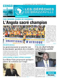 Les Dépêches de Brazzaville : Édition brazzaville du 13 décembre 2018