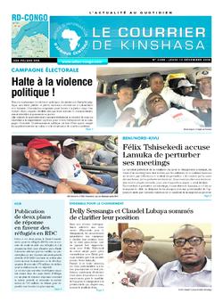 Les Dépêches de Brazzaville : Édition le courrier de kinshasa du 13 décembre 2018