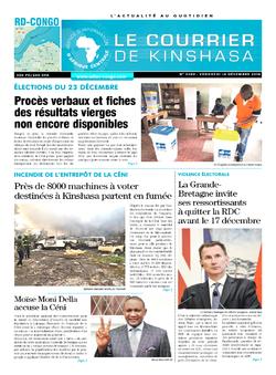 Les Dépêches de Brazzaville : Édition le courrier de kinshasa du 14 décembre 2018