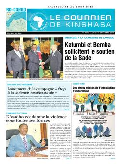 Les Dépêches de Brazzaville : Édition le courrier de kinshasa du 17 décembre 2018