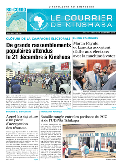 Les Dépêches de Brazzaville : Édition le courrier de kinshasa du 18 décembre 2018