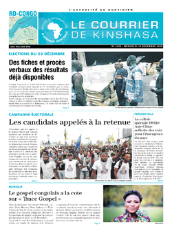 Les Dépêches de Brazzaville : Édition le courrier de kinshasa du 19 décembre 2018