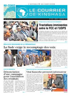 Les Dépêches de Brazzaville : Édition le courrier de kinshasa du 15 janvier 2019