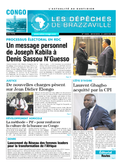 Les Dépêches de Brazzaville : Édition brazzaville du 16 janvier 2019
