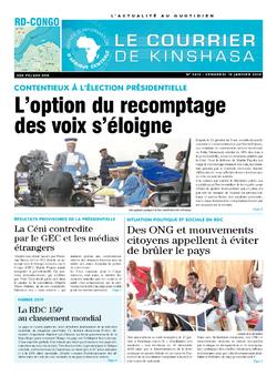 Les Dépêches de Brazzaville : Édition le courrier de kinshasa du 18 janvier 2019
